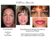 permanent makeup eyebrows, eyeliners, lips and lip liner